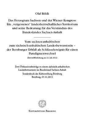 Das Herzogtum Sachsen und der Wiener Kongress